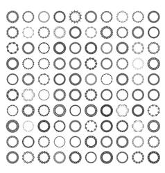 Mega set of 100 the most popular round frames vector image