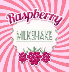 Raspberry milkshake vector image vector image
