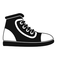 Athletic shoe icon simple style vector image vector image
