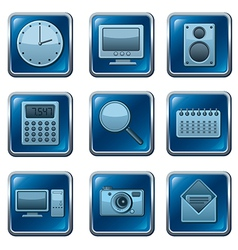 computer applications buttons vector image vector image