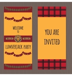 Lumberjack party ideas vector image vector image