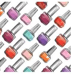 nail polish bottle pattern beauty salon vector image vector image