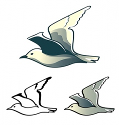 seagull logo vector image vector image
