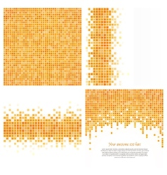 Set of 4 pixel templates for your design vector image vector image
