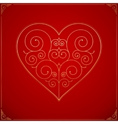 Valentines Day heart Ornate love symbol vector image