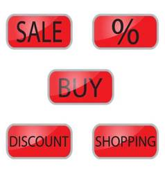 Web button for shooping and online shop vector image vector image