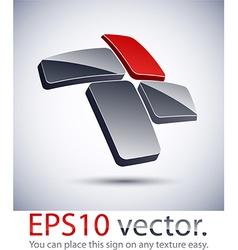 3D modern cross logo icon vector