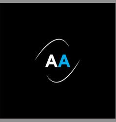 A letter logo monogram design vector