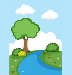 a simple nature background vector image