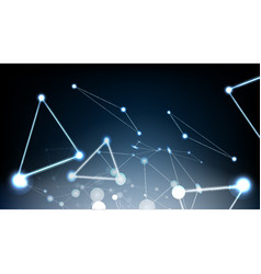 Abstract technological glowing light effect vector
