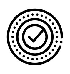 approved mark print stamp seal element vector image