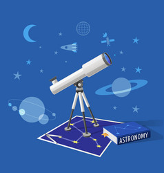 Astronomy class on blue background vector