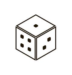 Backgammon dice icon on white background eps 10 vector