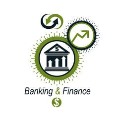 banking conceptual logo unique symbol banking vector image