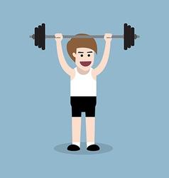 barbell shoulder press exercise vector image