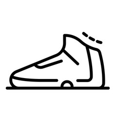 Basketball shoe icon outline style vector