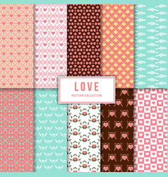 beautiful love pattern collection vector image