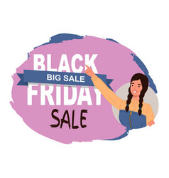 black friday concept sale banner with beautiful vector image