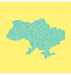 Blue ukrainian map from dots vector