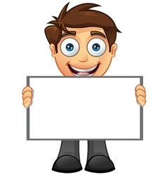 Business Man Blank Sign 6 vector image
