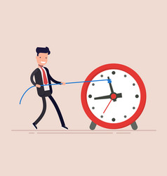 businessman or manager is wasting time man is vector image