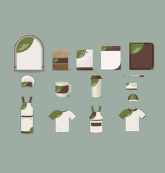 Cafe corporate identity elements set vector