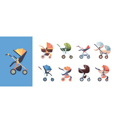 carriage for baby transport for kids mother vector image