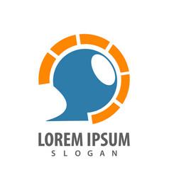 circle signal technology communication logo vector image