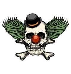 Clown Skull vector image