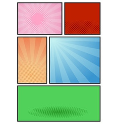 Comic book page pop art template vector