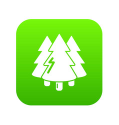 coniferous forest icon green vector image