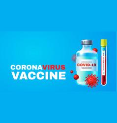 coronavirus 2019-ncov vaccile stop vector image
