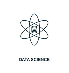data science outline icon thin line style from vector image