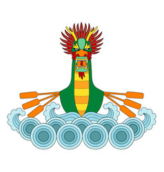 dragon boat print vector image