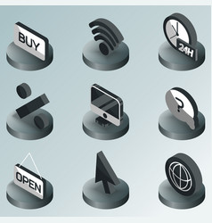 e-commerce color isometric icons vector image