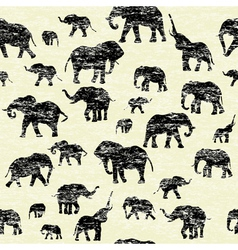 Elephants silhouettes Background vector