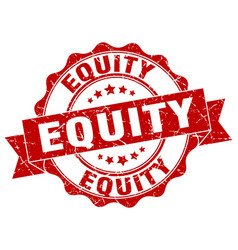 Equity stamp sign seal vector