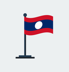 flag of laosflag stand vector image