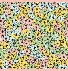 flower multicolor wallpaper seamless pattern vector image