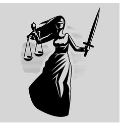 Goddess justice themis vector