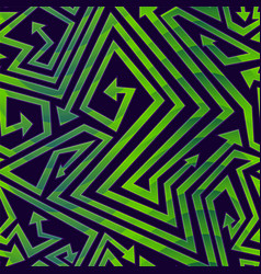 green geometric arrow seamless pattern vector image