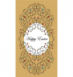 greeting Easter card vector image