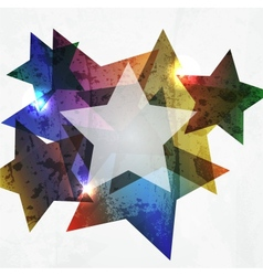 Grunge star Abstract Background vector image