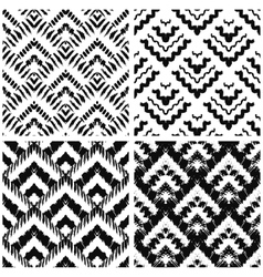Hand drawn art deco painted seamless pattern vector