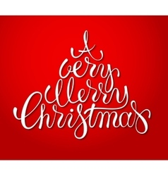 Hand drawn holiday lettering design Christmas vector image
