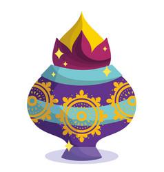 happy diwali festival decorative ornament mandala vector image