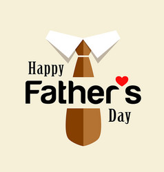 Happy fathers day brown necktie design vector