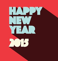 Happy New Year 2015 Retro vector image