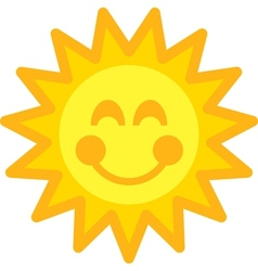 Happy sun vector