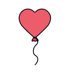 heart shaped party balloon vector image